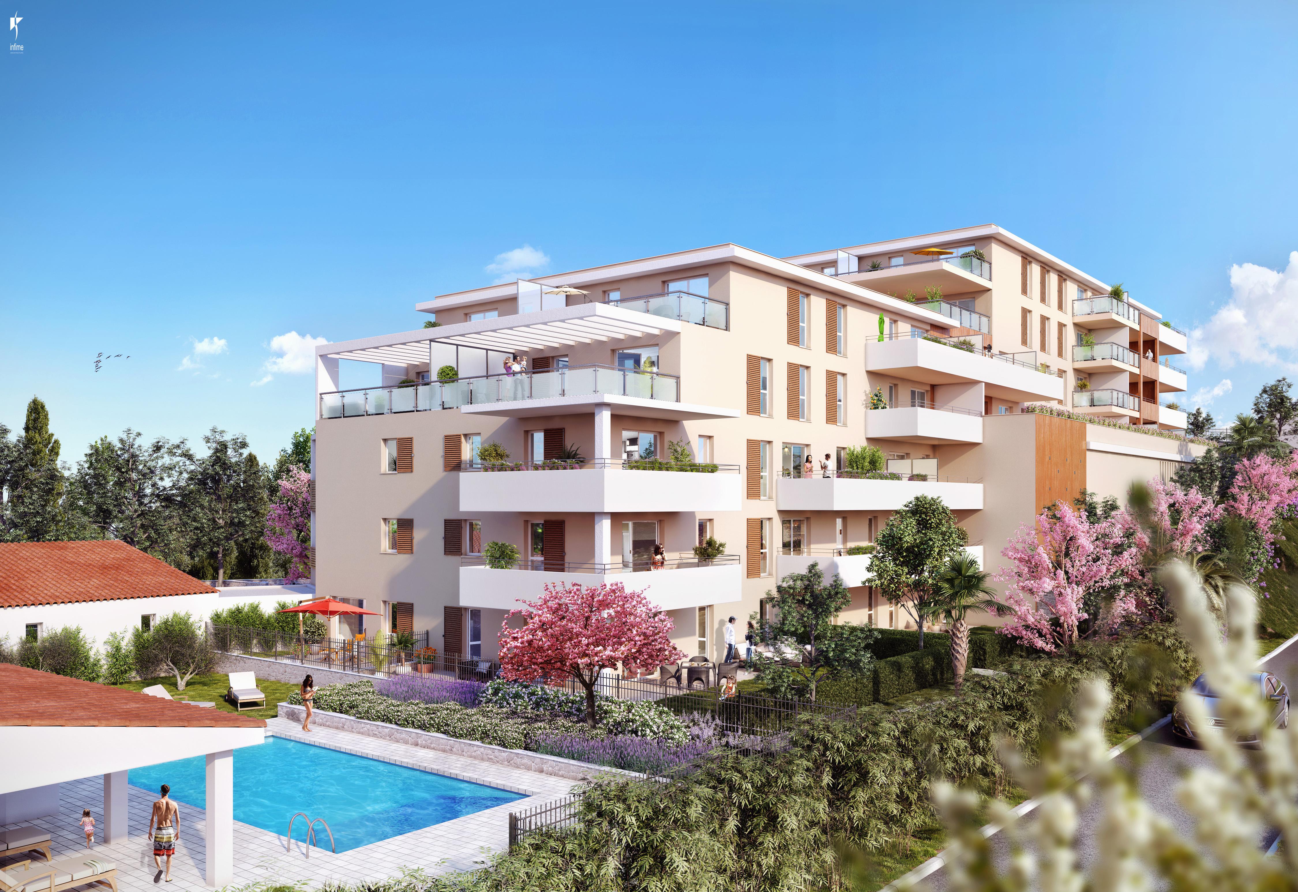 toits terrasses neufs dans r sidence avec piscine